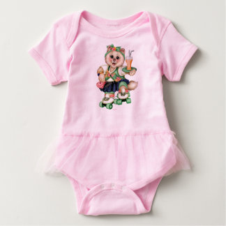 ROLLER CAT CUTE Baby Tutu Bodysuit