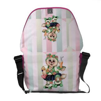 ROLLER CAT CUTE Rickshaw Messenger Bag