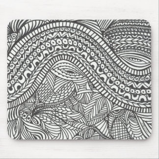 Roller Coaster abstract black and white Mouse Pad