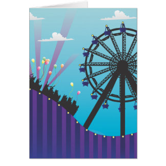 Roller Coaster Blank Greeting Card