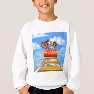 Roller Coaster Fair Theme Park Sweatshirt