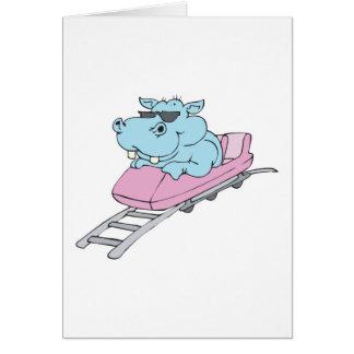roller coaster hippo card