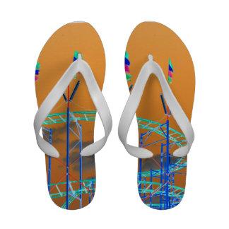 roller coaster invert orange sky sandals