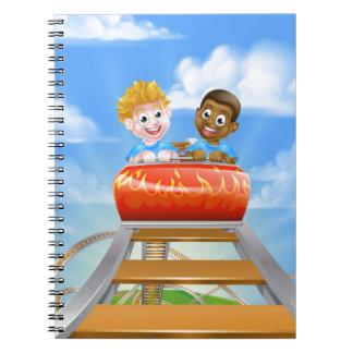 Roller Coaster Kids Notebook
