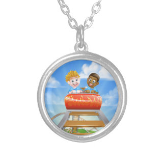 Roller Coaster Kids Silver Plated Necklace