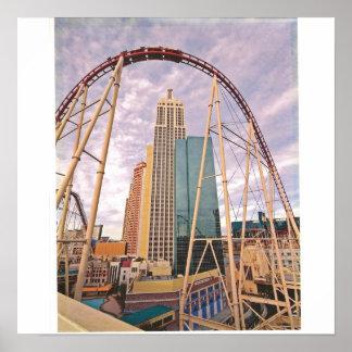roller coaster NYNY Poster