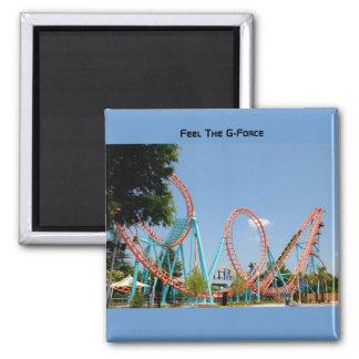roller coaster square magnet