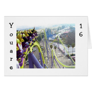 ROLLER COASTER THRILLS FOR THE 16 YEAR OLD CARD