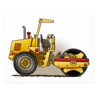 Roller Construction Post Card