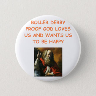 roller derby 6 cm round badge