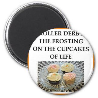 roller derby 6 cm round magnet