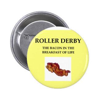 roller derby pinback button