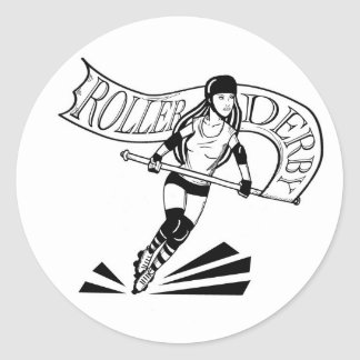 Roller Derby Banner Girl Sticker