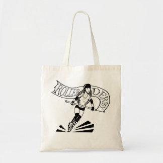 Roller Derby Banner Girl Budget Tote Bag