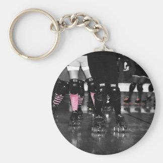Roller Derby Basic Round Button Key Ring