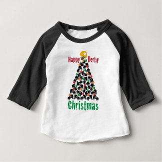 Roller Derby Christmas, Roller Skating Baby T-Shirt