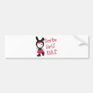 Roller Derby - Derby Girls Rule Car Bumper Sticker