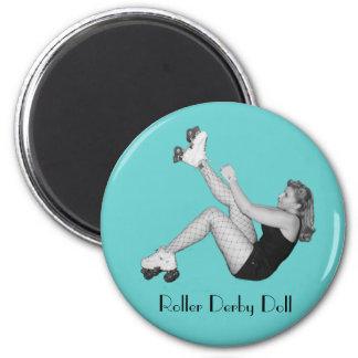 Roller Derby Doll Magnet
