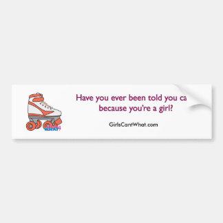 Roller Derby Girl Car Bumper Sticker