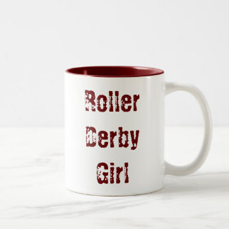 Roller Derby Girl - cup Two-Tone Mug