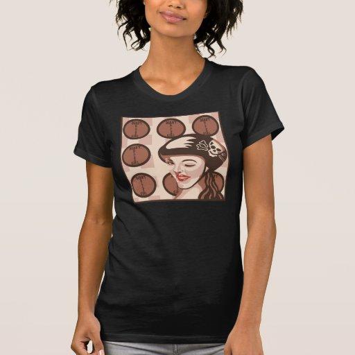 roller derby girl t-shirt