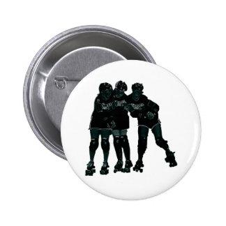 Roller Derby Girls 6 Cm Round Badge