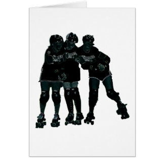 Roller Derby Girls Card