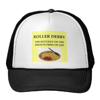 roller derby trucker hats