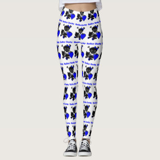 Roller Derby Heart (Blue) Leggings