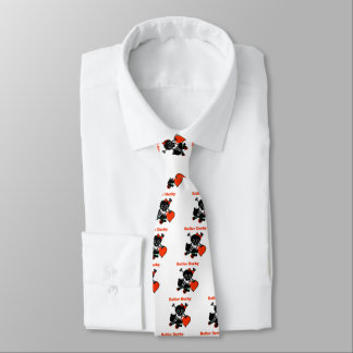Roller Derby Heart (Red) Tie