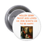 roller derby pinback buttons