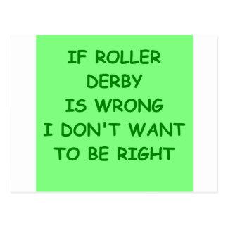 roller derby postcard