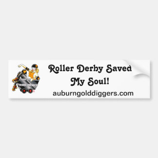 Roller Derby Saved My Soul bumper sticker