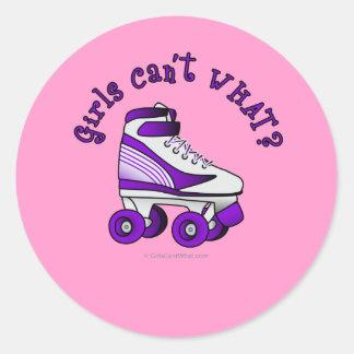 Roller Derby Skate - Purple Stickers