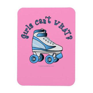 Roller Derby Skate - Sky Blue Rectangular Magnet