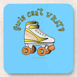 Roller Derby Skate - Yellow Drink Coasters