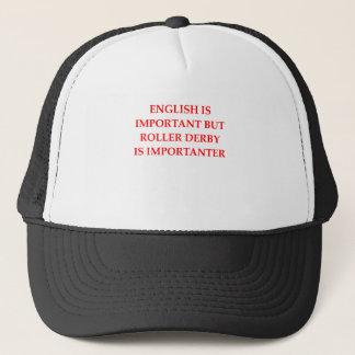 roller derby trucker hat