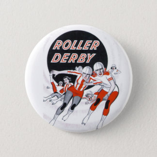 Roller Derby Vintage Program Pin