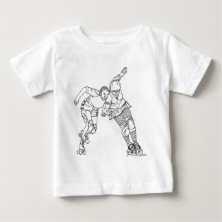 Roller Derby - Yesterday and Today Baby T-Shirt