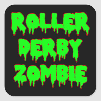 Roller Derby Zombie Sticker