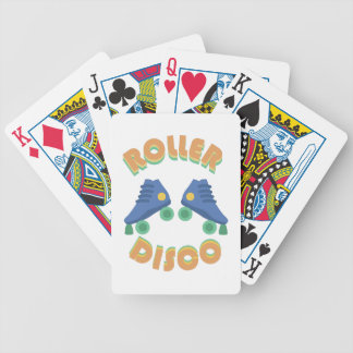 Roller Disco Bicycle Playing Cards
