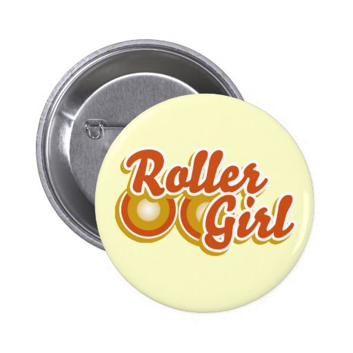 Roller Girl in the Derby Pins