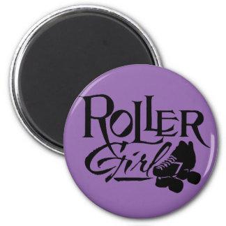 Roller Girl, Roller Derby 6 Cm Round Magnet
