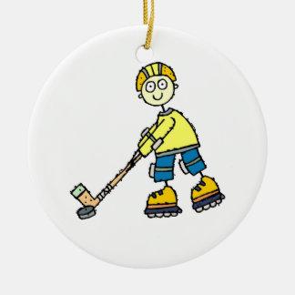 Roller Hockey Christmas Ornament