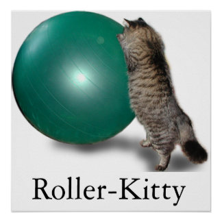 Roller-Kitty Poster