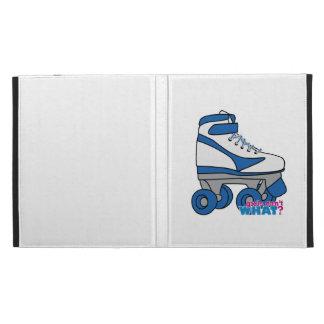 Roller Skate - Blue iPad Folio Cases