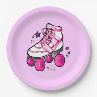 Roller Skate Girl Paper Plate