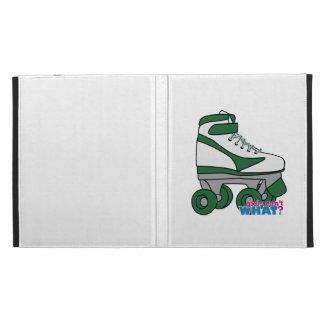 Roller Skate - Green iPad Folio Cases