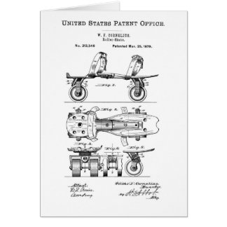 Roller Skate Patent  Paper Items Card