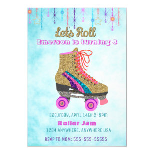 Roller Skating Invitations Zazzle Au